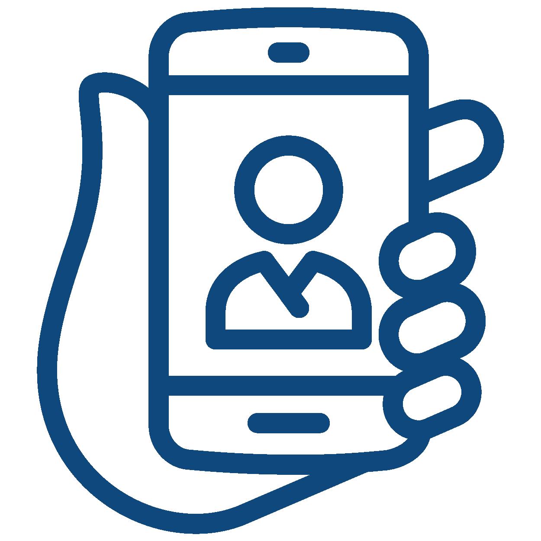 telemedicine phone doc icon